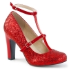QUEEN-01 Red Glitter